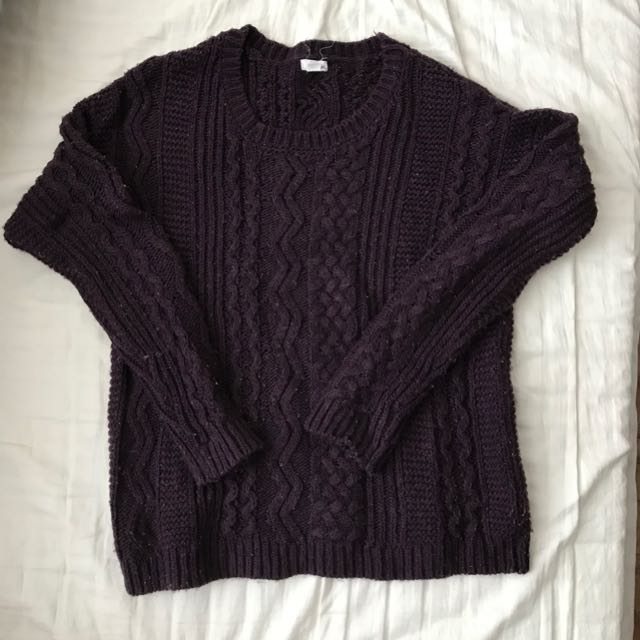 Garage purple sweater size S