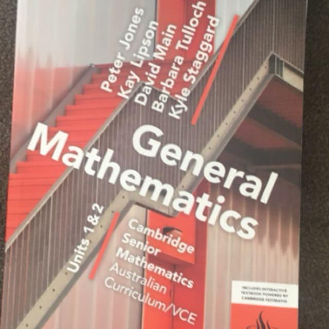 General Maths year 11 textbook