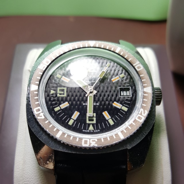 Glashutte Spezimatic Military Diver's Watch 26 Jewels