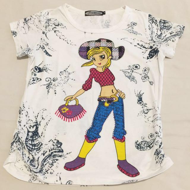 Glitter girl shirt