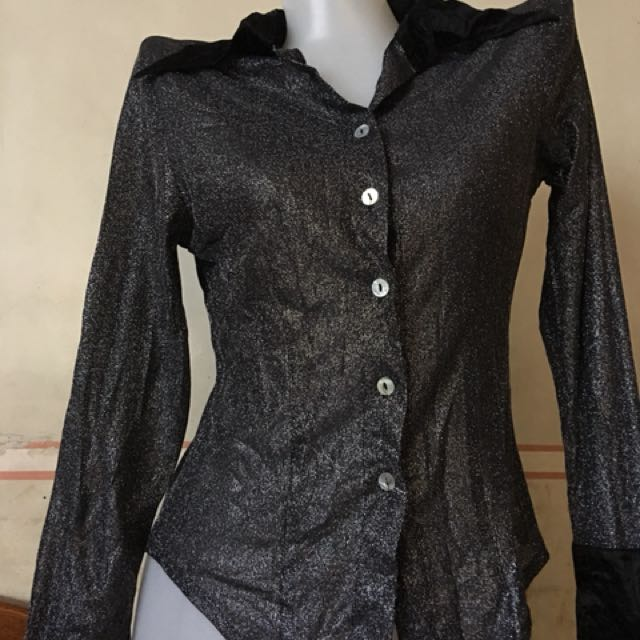 Glittery long sleeves-small
