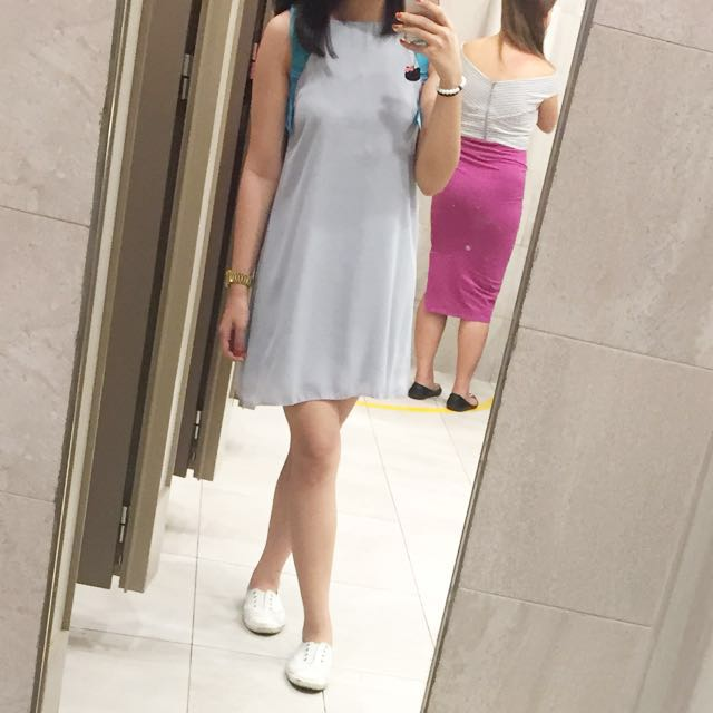 Gray Halter Dress