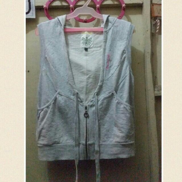 Gray Vest Hoodie