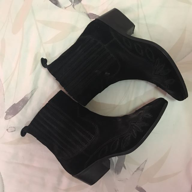 H&M Black Mid-Calf Boost