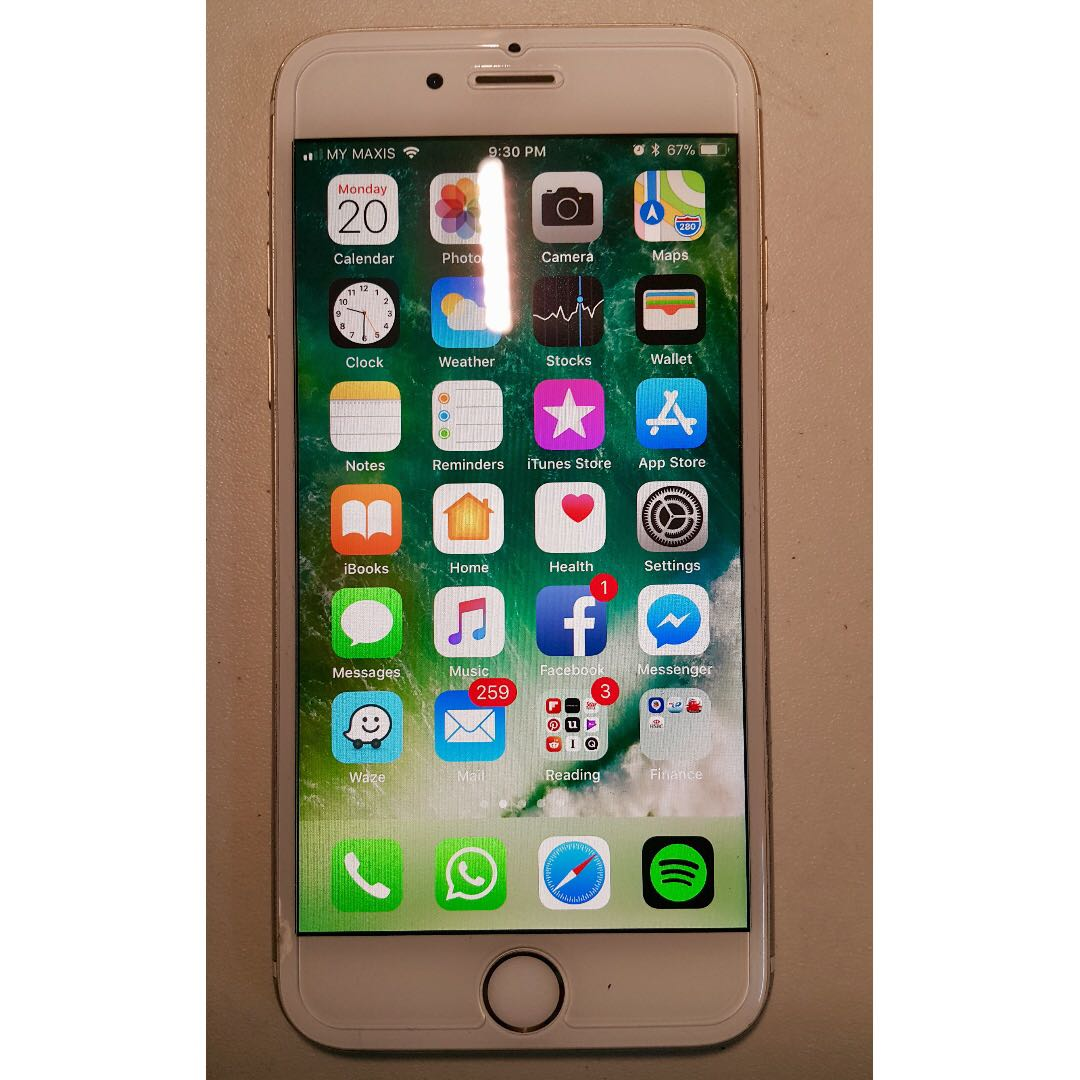 iPhone 6 64gb Gold Good Condition  Nego  Free gifts