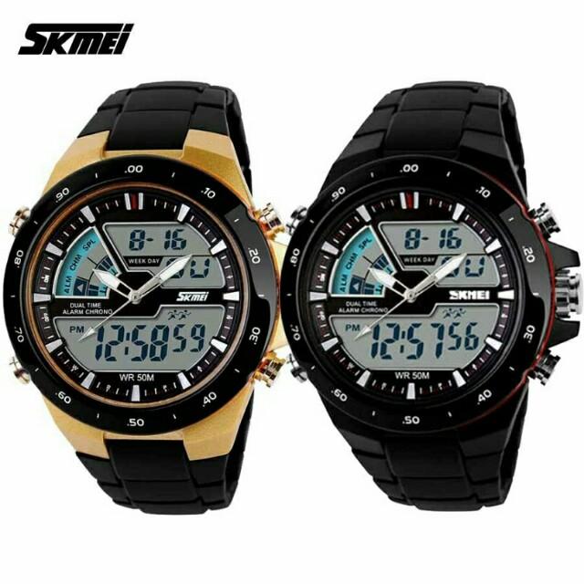 Jam Tangan SKMEI AD1016 Casual Sport Digital Analog Waterproof Sport Watch Anti air