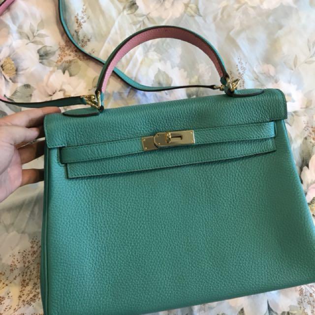 KELLY Inspired full leather bag