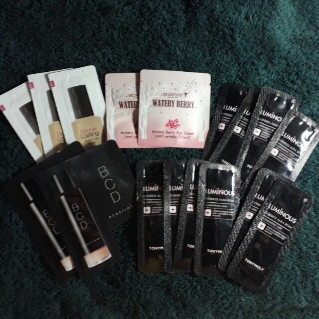 Korean Cosmetics Samplers ❤ (Tony Moly, Etude, Skinfood)