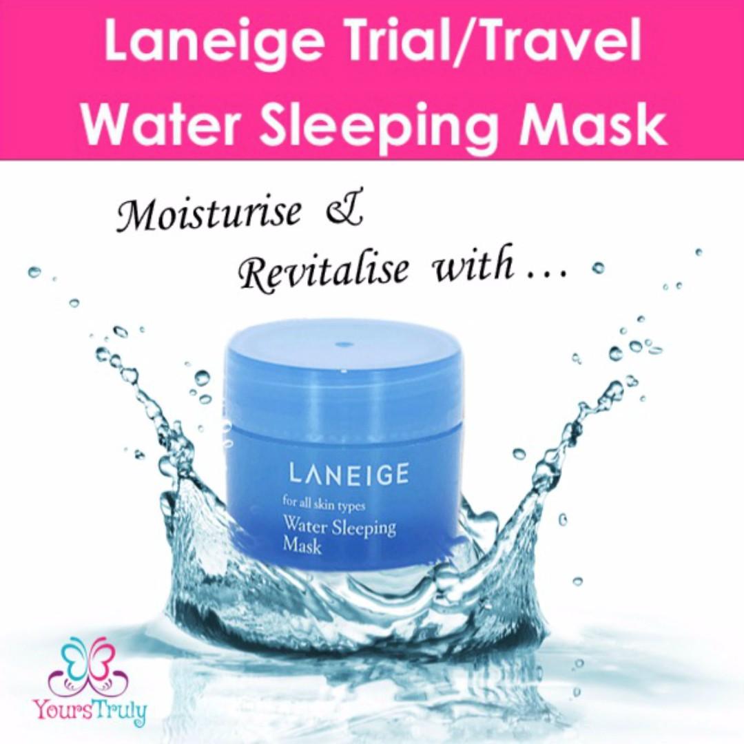 Laneige Water Sleeping Mask Trial Kit Travel Size Health Beauty Lip Bath Body On Carousell