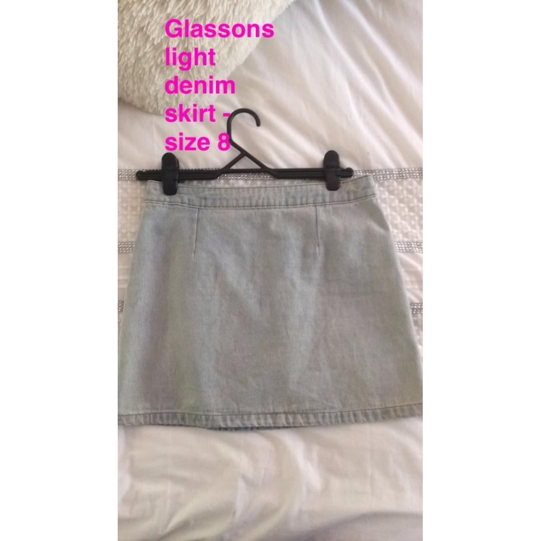 Light Denim Skirt - S8