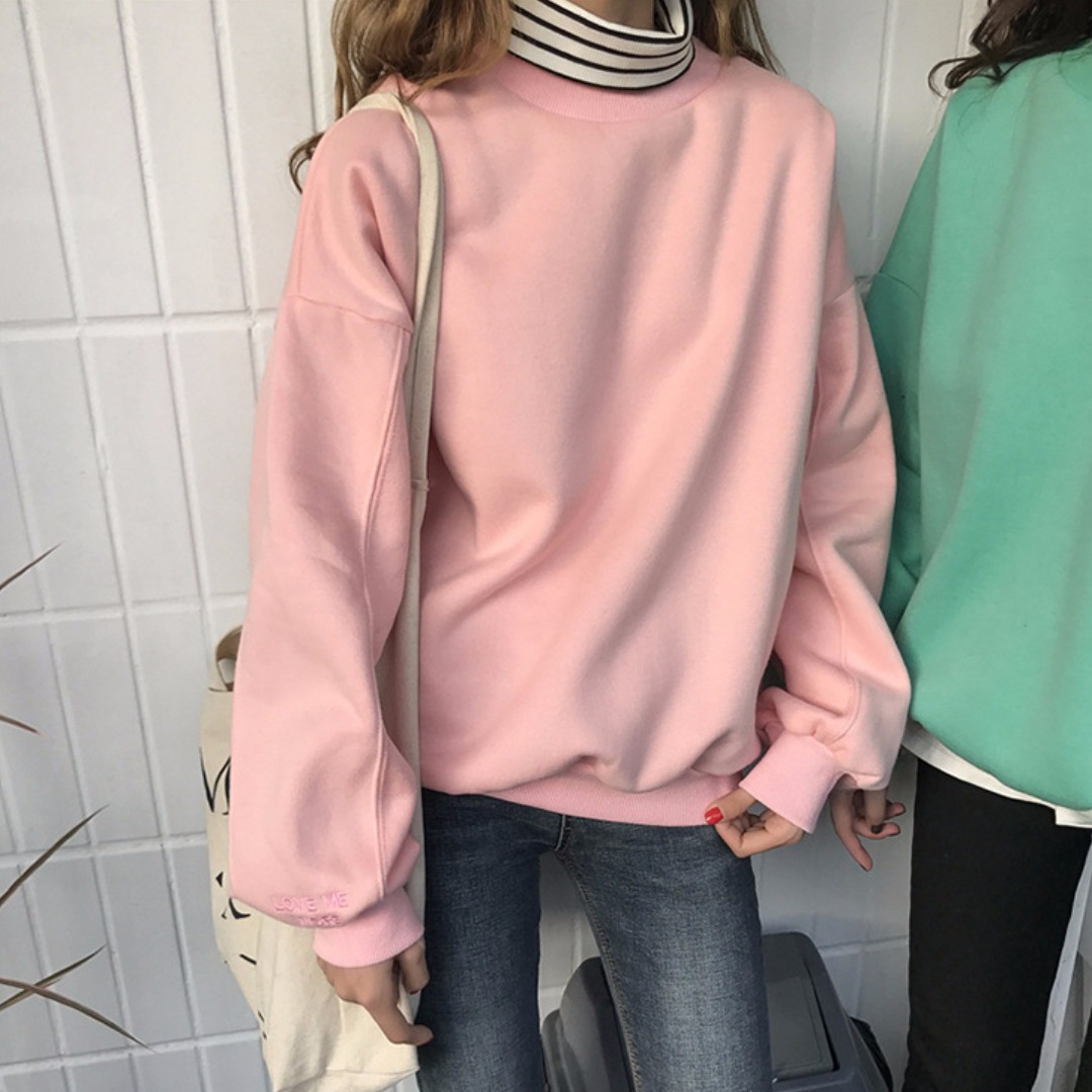 【預購】LOVE ME MORE刺繡刷毛衛衣