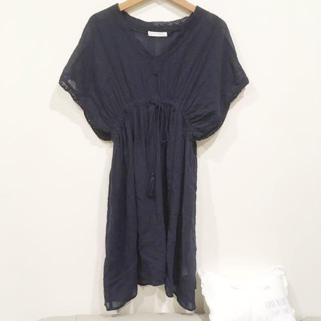 LOWRYS Farm 兩件式波西米亞風棉麻洋裝
