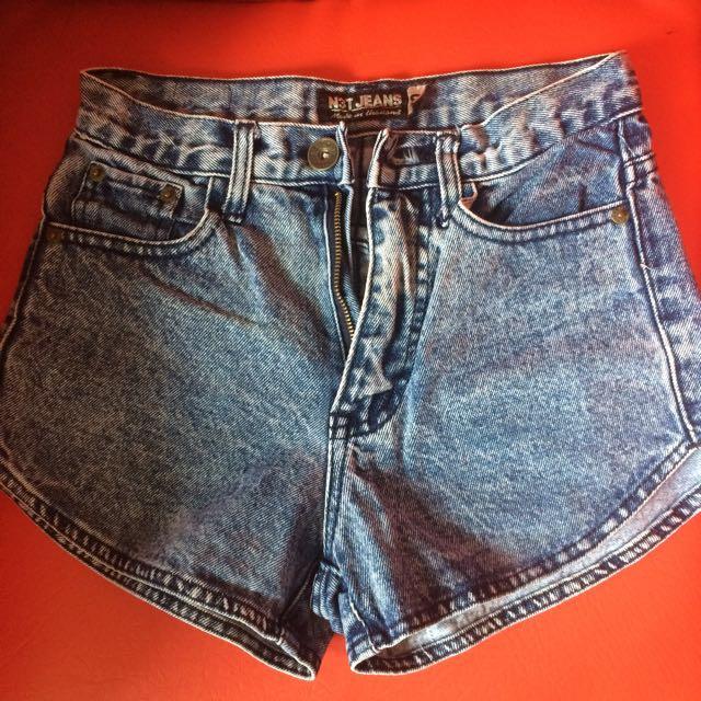 Maong High Waisted Short