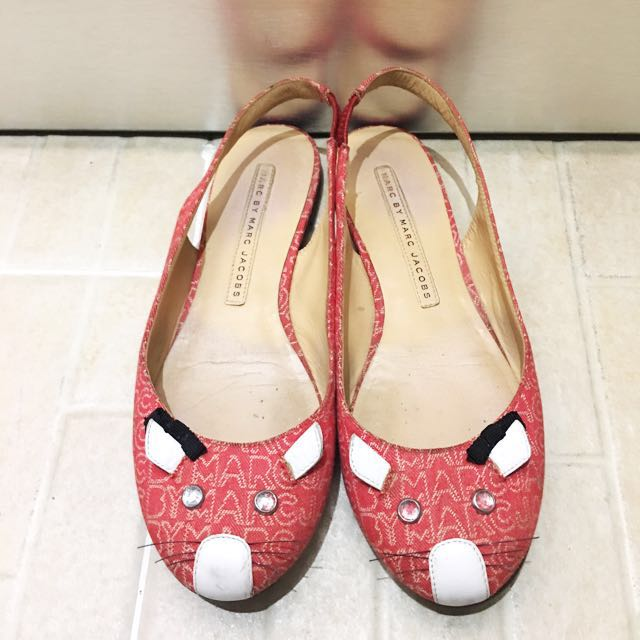 Marc jacobs mouse red flat shoes