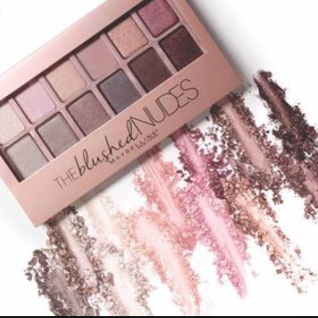 Maybelline The Blushed Nudes Eyeshadow Palette, Health & Beauty, Makeup on Carousell