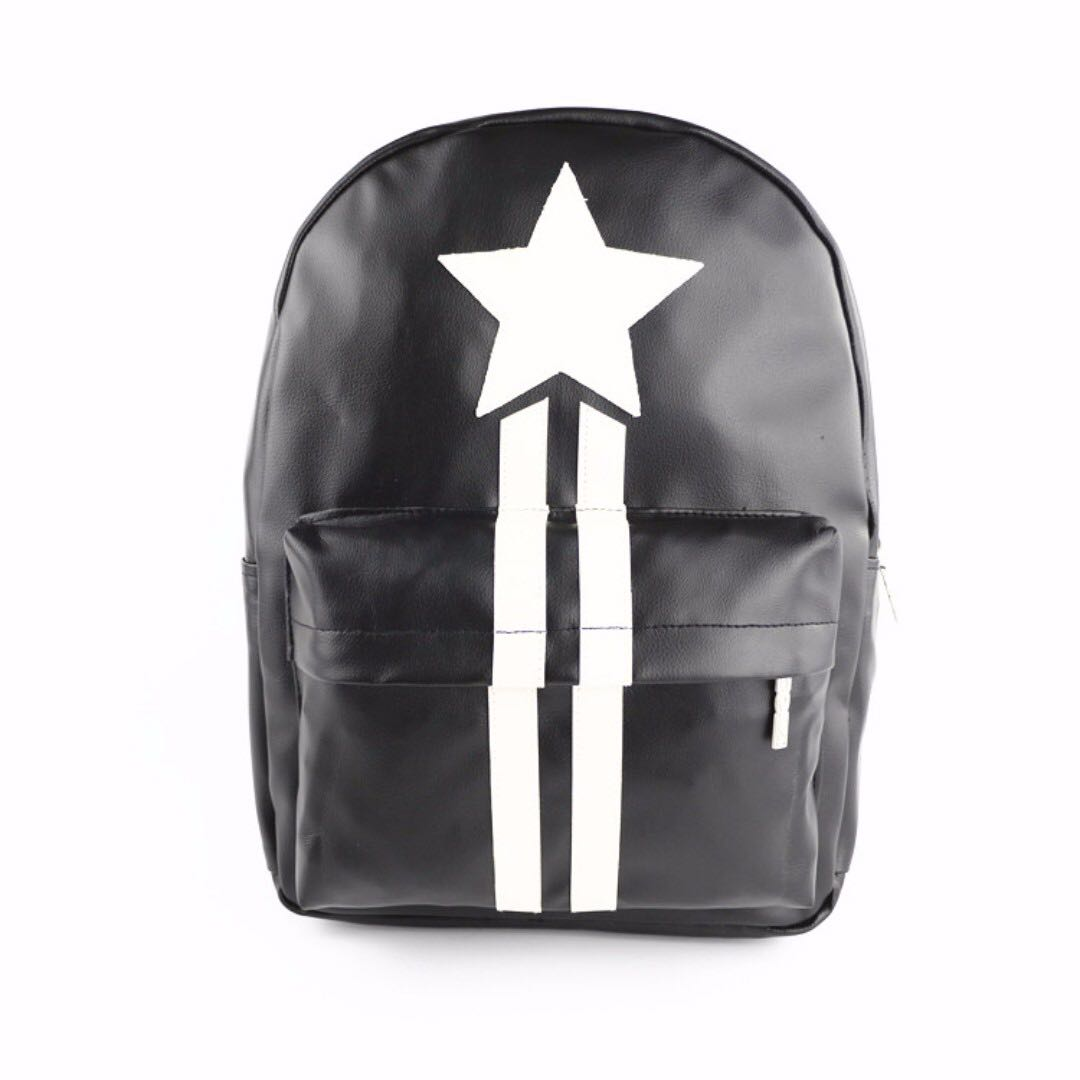 6ce1cc66a832 Men s Women s Backpack PU leather Korean casual primary school ...