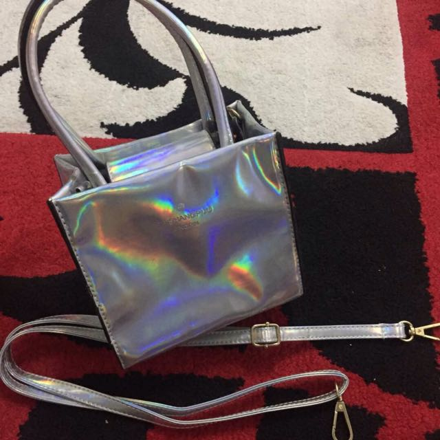 Mini hologram sling bag