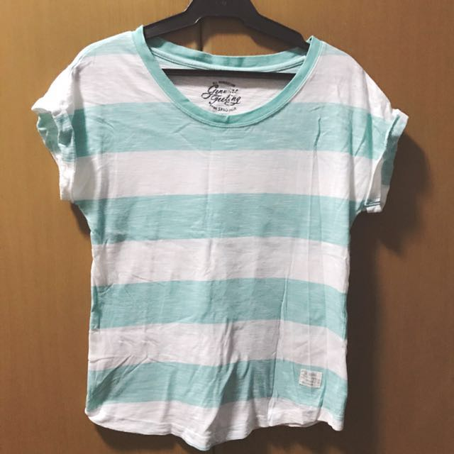 Mint Green Stripes Shirt (small)