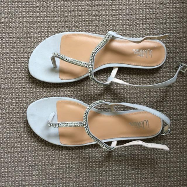 NEW Wittner Grey embellished Sandal -Size 38