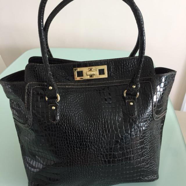 Nine West big black patent bag(Authentic)