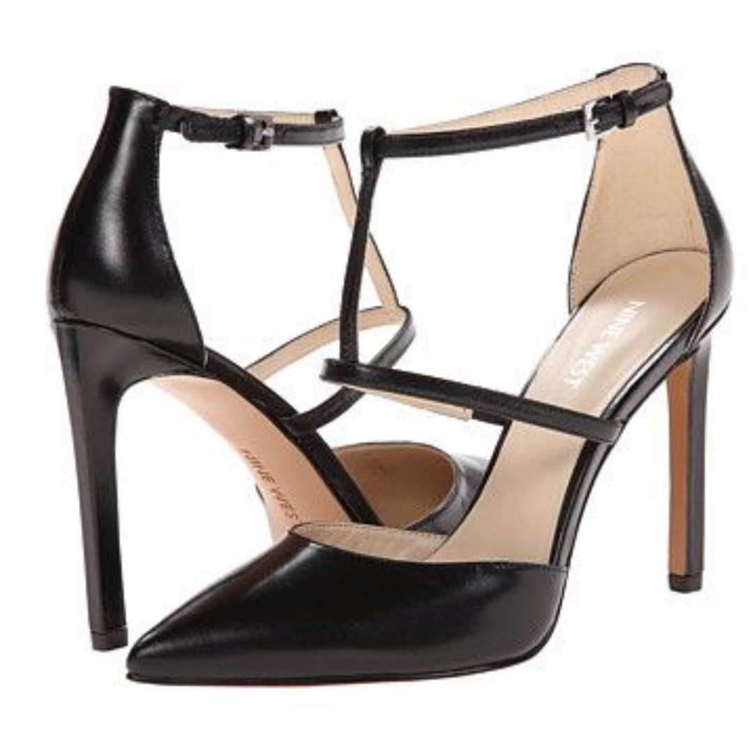 Nine West Strappy Leather Pumps (Size 8)