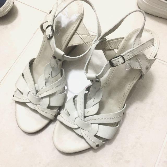 Off White Braided Sandals