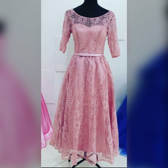 Old Rose 3/4 Gown