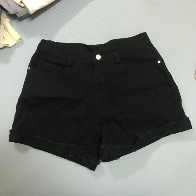 Pazzo黑色短褲#我的女裝可超取