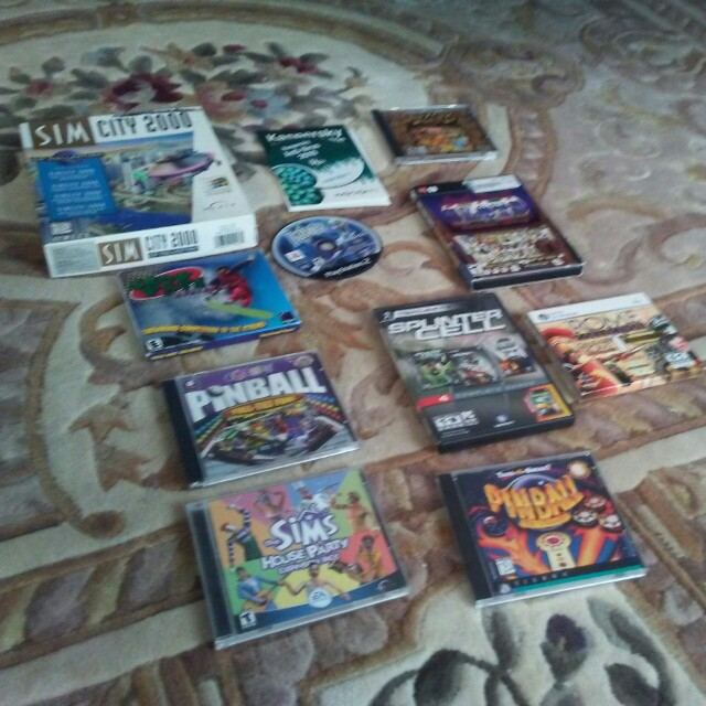 PC GAME LOT(10) with anti virus