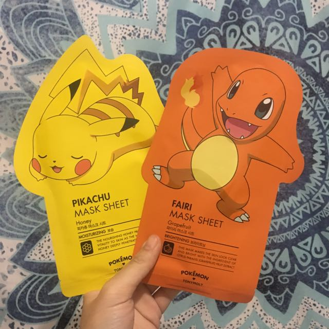 pokemon tony moly mask