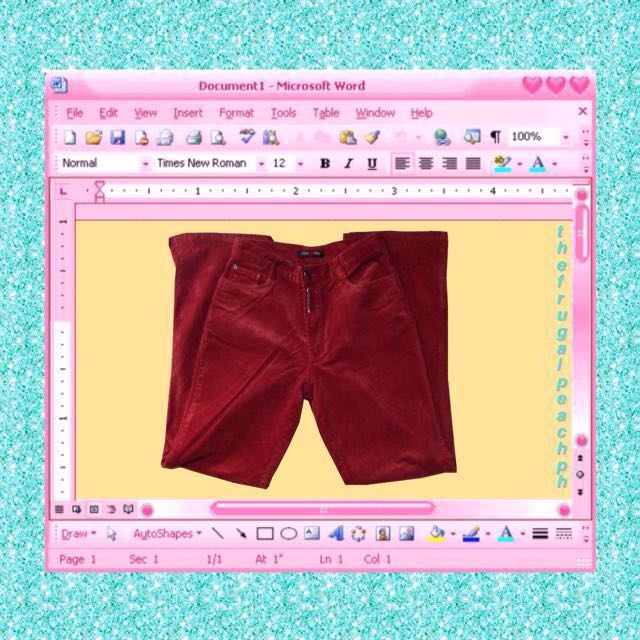 Red Suede Mom Jeans