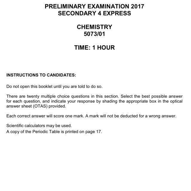Refer to new updated set 2017 sec 4 pure chemistry prelim exam refer to new updated set 2017 sec 4 pure chemistry prelim exam papers top school test papers o level subject code 5073 books stationery urtaz Images