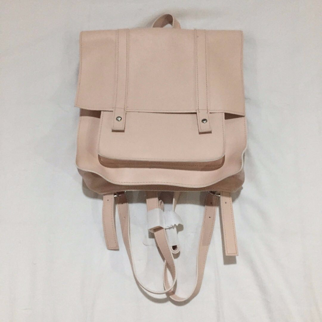 b2fca65bbe Repriced) Brand New Light Pink Faux Leather Forever 21 Pastel Flap ...
