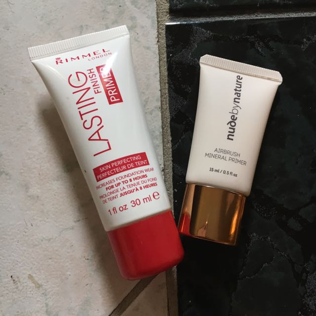 Rimmel &a Nude by Nature primers