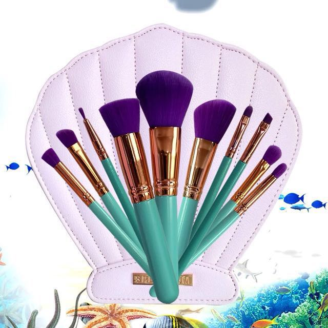 Seashell pouch makeup brush set 11 in 1