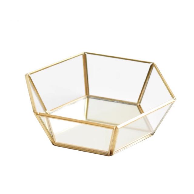 [Sellabrations] Gold Geometric Terrarium Wedding Tray Jewellery tray