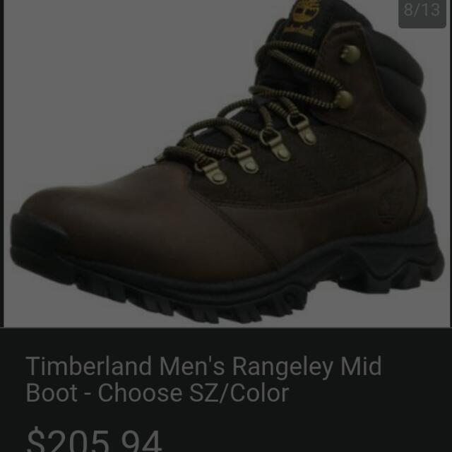 sepatu shoes timberland rangeley  mid boot original