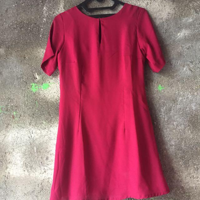 Shopatvelvet Red Mini Dress