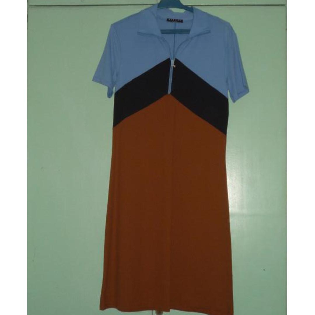 Sisley color-blocked dress