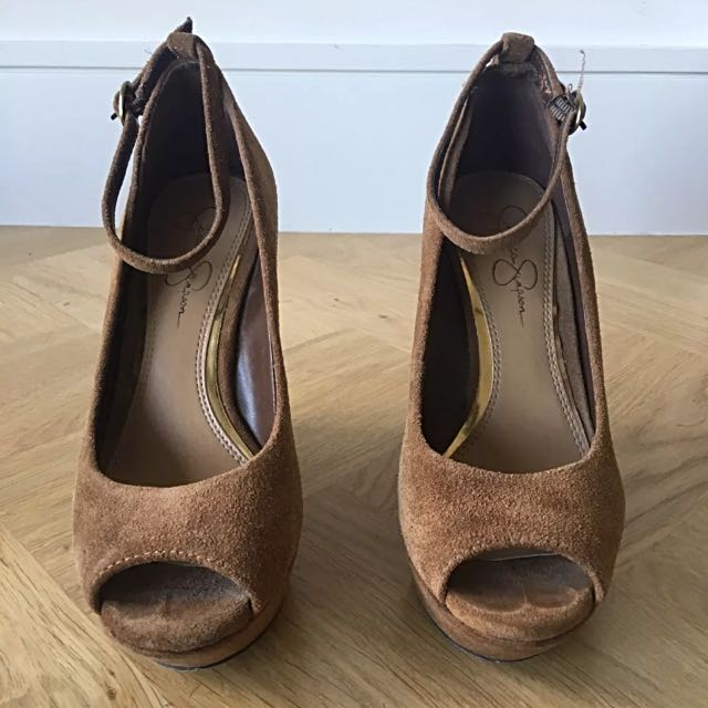Size 38 / 8B - Jessica Simpson Suede Wedges - make me an offer!