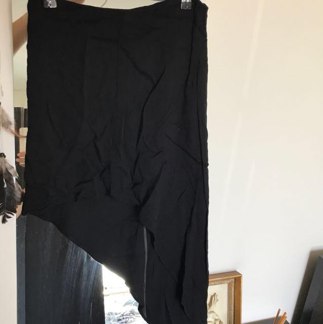 Sportsgirl Black Angled Skirt