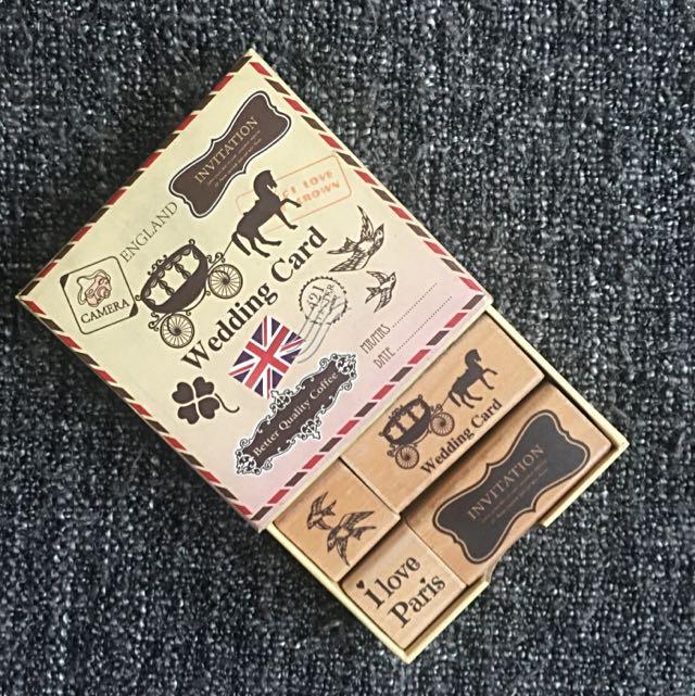 Stamp set (Paris, Wedding Card)