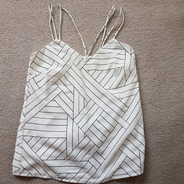 strappy cami top size 4