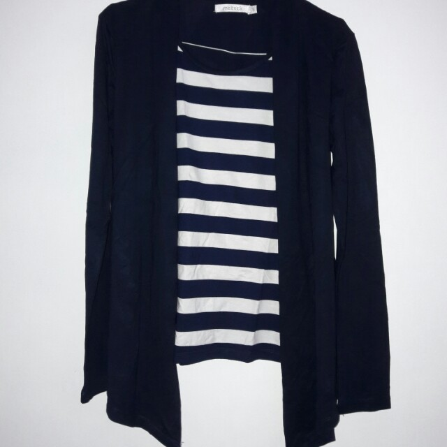 Stripe Top With Outer