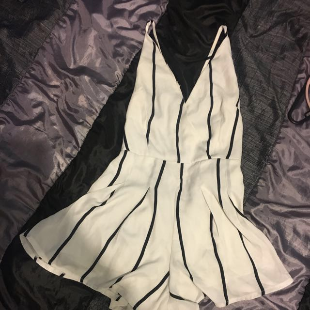 Stripped playsuit