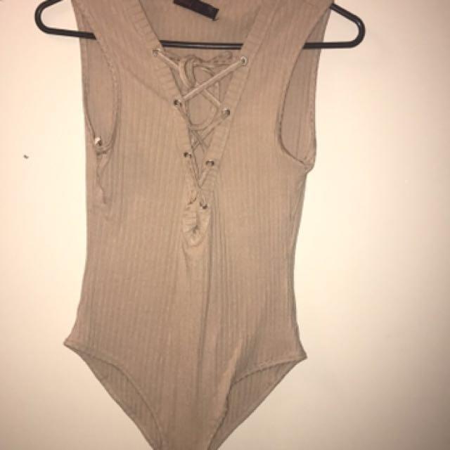 Tan Body Suit