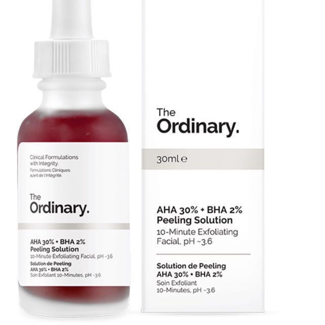 The Ordinary 30% AHA 2% BHA Peeling Solution 30ml full-size bottle (I have proof of purchase to verify authenticity.)