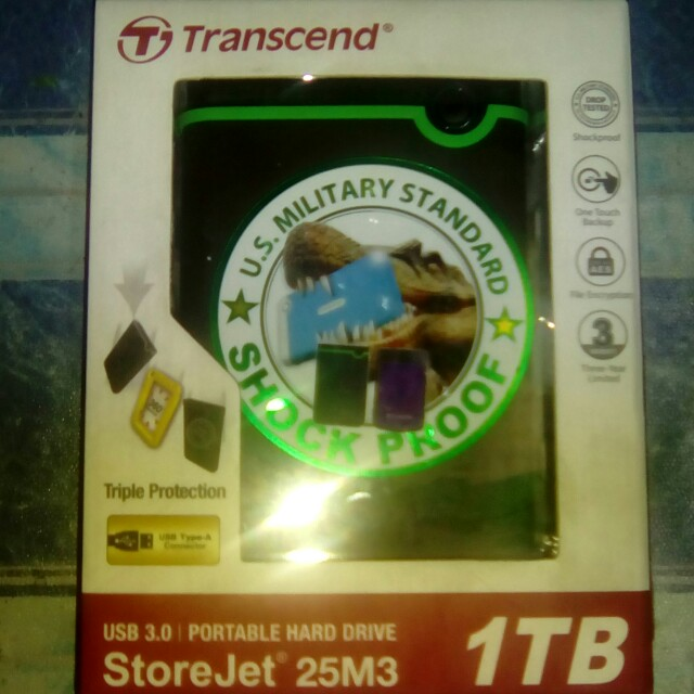 Transcend 1tb shockproof (color green)