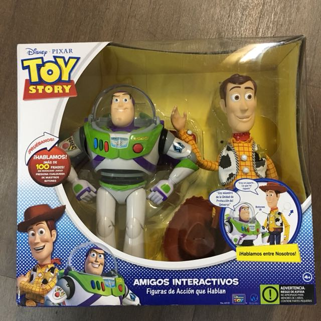 Toy Story Buzz Lightyear Woody Talking Spanish Action
