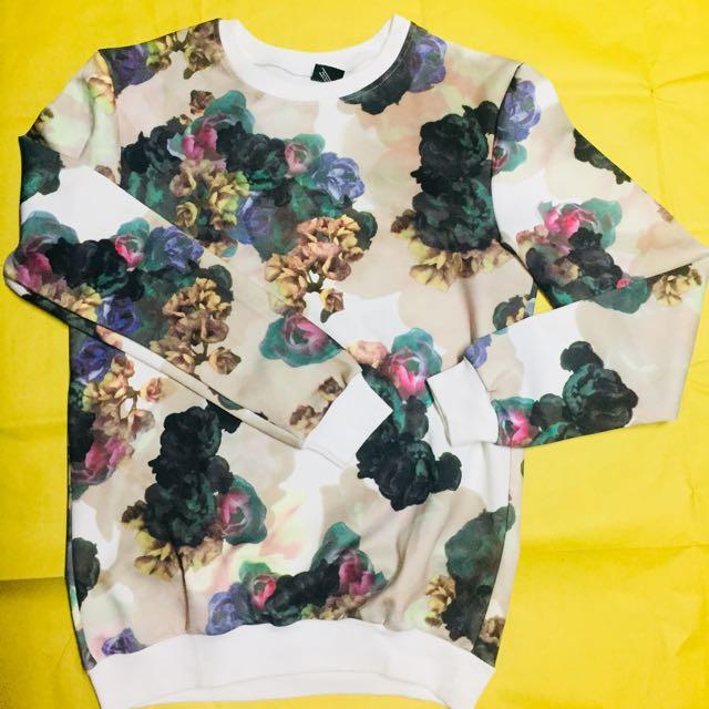 Unisex floral sweater